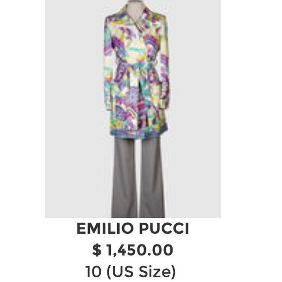 4f2f38265264 Emilio Pucci Jackets   Blazers - Emilio Pucci Trench Coat